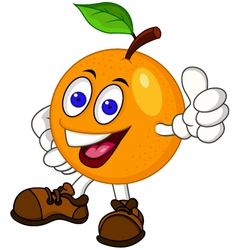Orange cartoon character vector image vector image