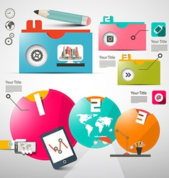 Paper Infographics Layout - Web Design or Brochure vector image vector image