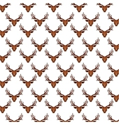 Reindeer head pattern low poly isolated icon vector