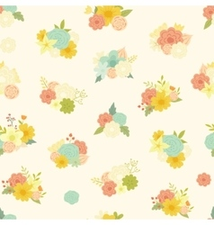 seamless pattern with beautiful bouquets vector image vector image