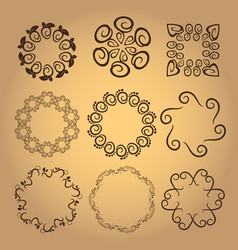 set of vintage design elements5 vector image vector image