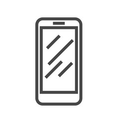 Smartphone thin line icon vector