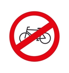 traffic bicycle prohibited road isolated vector image