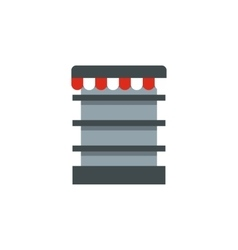 Showcase in shop icon flat style vector