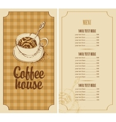 Menu for a coffee house vector