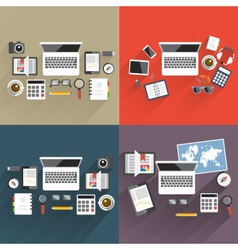 Print flat office vector