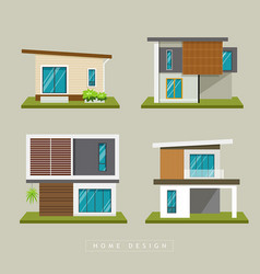 Home exterior modern design collections vector