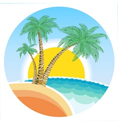 Exotic tropical island vector