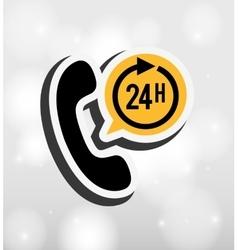 24 hours service design vector image