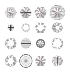 Screw heads vector image