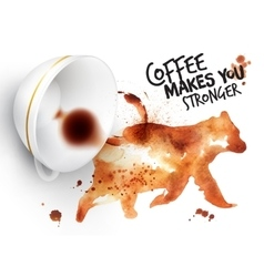 Poster wild coffee bear vector