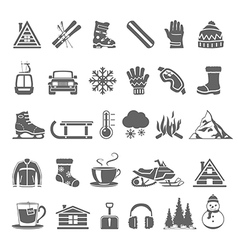 Black icons winter vector