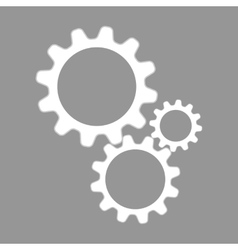 Settings flat icon vector