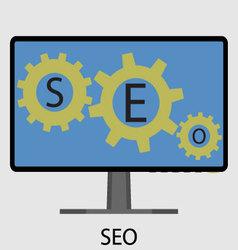 SEO icon flat design vector image