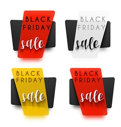 Black friday realistic sticker in 3d sale vector