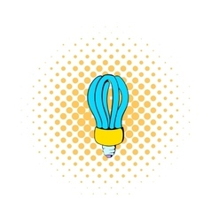 Fluorescence lamp icon comics style vector
