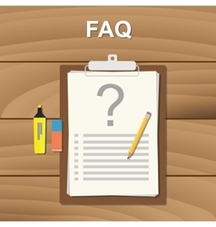 Faq frequently aksed question checklist note on vector