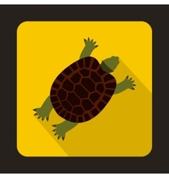 Turtle icon in flat style vector