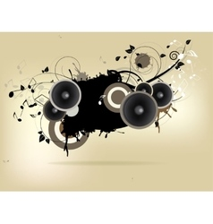 Abstract urban music background with grunge vector image