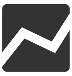 Analytics chart flat icon vector