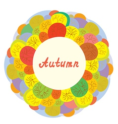 Autumn funny frame with trees vector image vector image