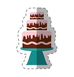 Cake dessert bakery shadow vector