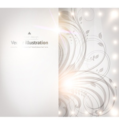 Classical White Floral Design vector image vector image