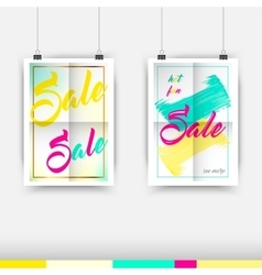 Collection of seasonal sale typography poster vector