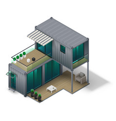 container house concept vector image