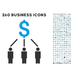 Crowdfunding icon with flat set vector