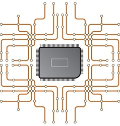 electrical circuit 1 vector image