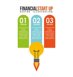 financial start up vector image