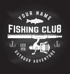 fishing sport club vector image vector image