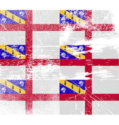 Flag of herm with old texture vector
