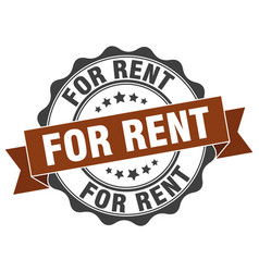 For rent stamp sign seal vector