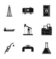 Fuel icons set simple style vector
