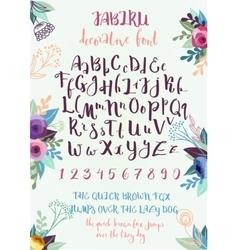 Handwritten decorative alphabet vector