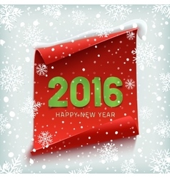 Happy New Year 2016 Paper banner vector image vector image
