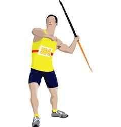Javelin thrower vector
