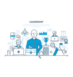 leadership skills career success and education vector image vector image