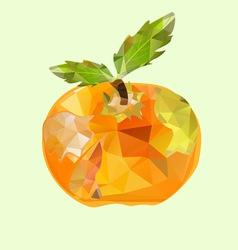 polygonal apple orange vector image