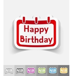 Realistic design element happy birthday vector