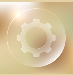 settings glassy icon settings glassy icon vector image vector image