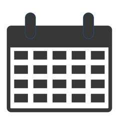 simple grey calendar vector image