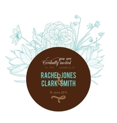 Vintage Turquoise Chocolate Brown Frame vector image