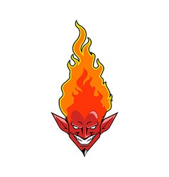 Flaming devil vector
