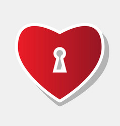 heart woth lock sign  new year reddish vector image