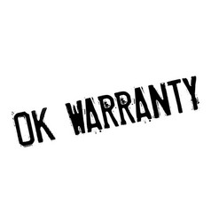 ok warranty rubber stamp vector image