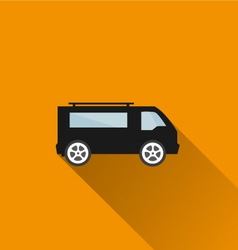 Car icon 4 long shadow vector