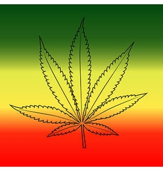Marijuana leaf background vector